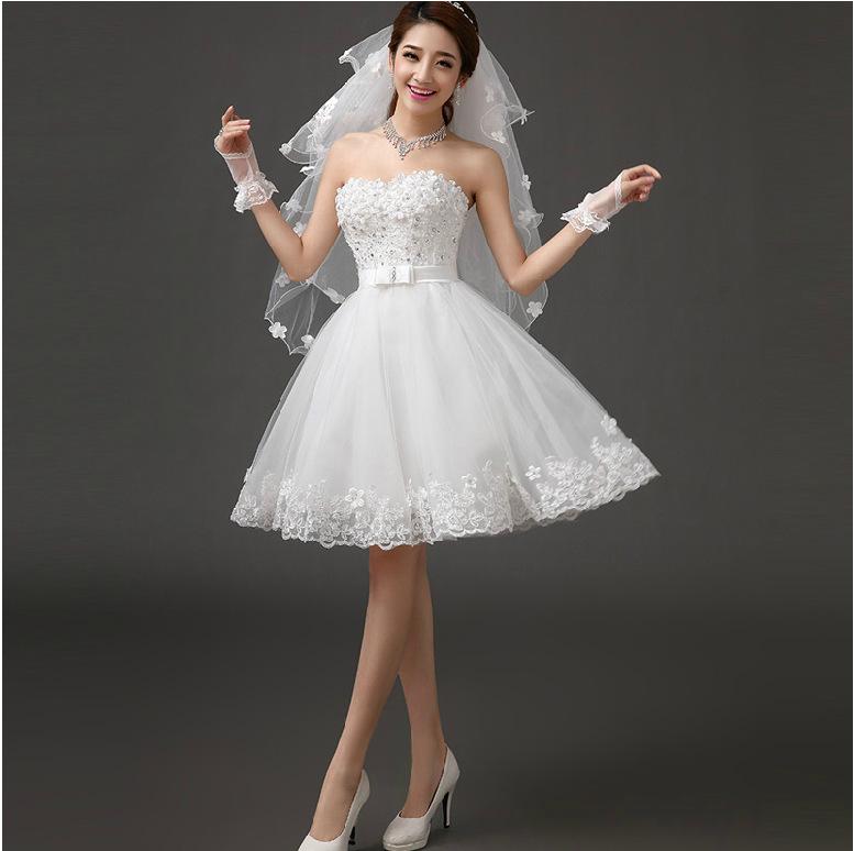 Короткое свадебное платье как способ быть самой оригинальной невестой