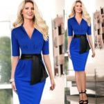 Как правильно выбрать элегантное синее платье для офиса или вечеринки