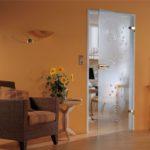 Стеклянные межкомнатные двери в современных интерьерах
