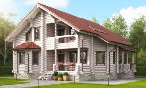 Дома и коттеджи из оцилиндрованного бревна