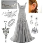 Лучший образ с серебряным платьем