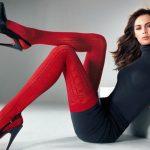 Красные колготки – с чем носить, чтобы выглядеть стильно