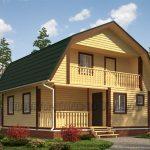 Проекты домов с мансардой из бруса с большим выбором планировок
